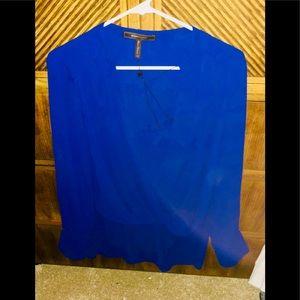 Bcbg blue blouse